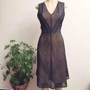 Current Air Anthropologie Net Overlay Dress WY422